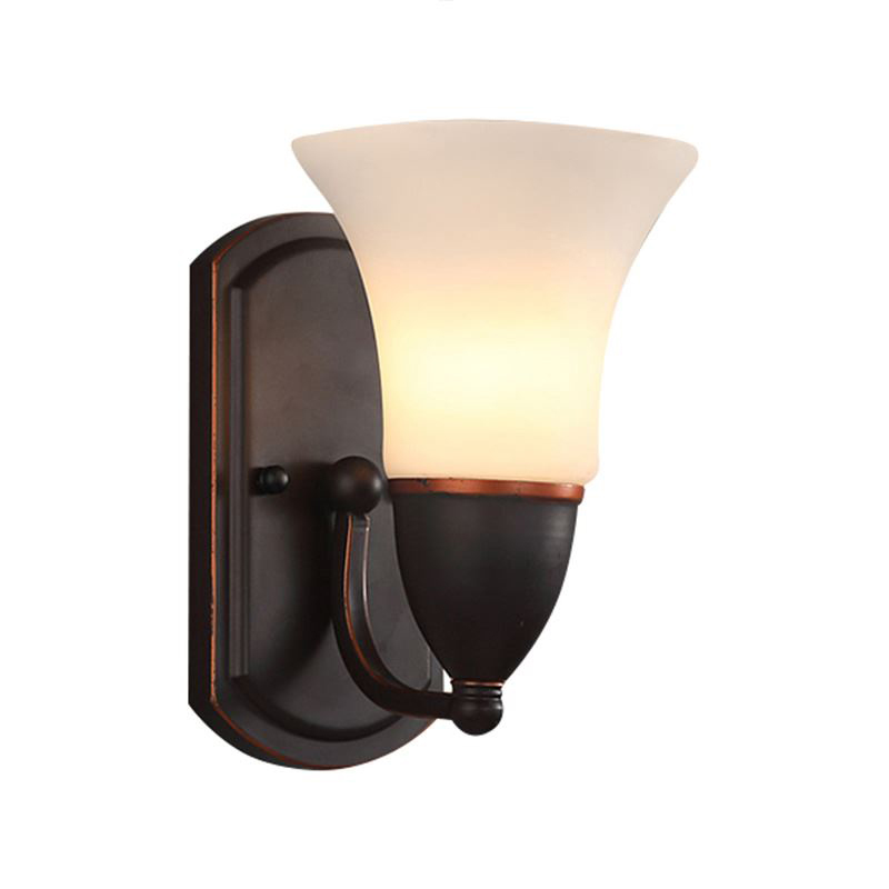 American bedroom wrought iron single head lamp retro hotel wall lamp room corridor porch aisle lamps bull pre charged high pressure pcp hand air pump 4500psi on promotion support free shipping factory outlet
