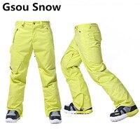 Gsou שלג מותג גברים מכנסיים סקי מכנסיים סנובורד עמיד למים לעבות תרמית החורף חיצוני סקי סנובורד החורף צפצף