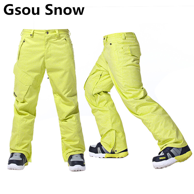 Gsou Snow Brand Ski Pants Men Waterproof Thicken Thermal Snowboard Pants Winter Outdoor Skiing Snowboarding Trousers Winter Pant