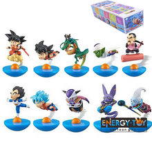 5 pçs/set YuraCole roly poli-MegaHouse Goku De Dragon Ball Z Piccolo Vegeta Freeza Beerus Whis action figure Tumbler modelo de brinquedo(China)