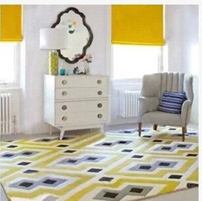 Rayé chambre chambre chambre salon table basse plein tapis boutique showroom épais/manuel/acrylique/tapis