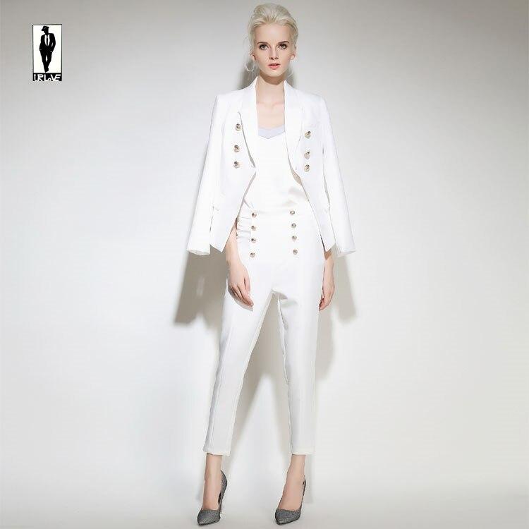 UR 125 Custom Blanco Formales Bussiness Elegante Traje de