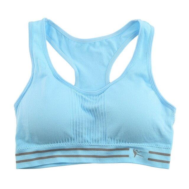 Absorb Sweat Quick Drying Professional Sports Bra Fitness Padded Stretch Workout Top Vest Running Wireless Underwear running bra
