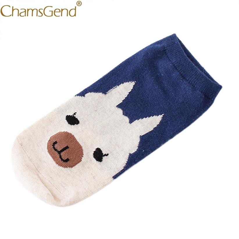 Chamsgend   Socks   Woman Girls Funny Harajuku Kawaii Cartoon Cotton Blends Low-Cut Short Ankle   Sock   medias 71214