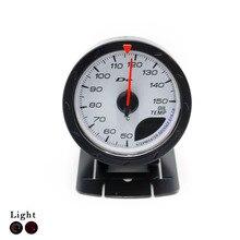 Freies verschiffen!! Öltemperatur Messer 60 MM Öltemperatur Messgeräte Mit Sensor Weiß Gesicht Auto Auto Meter Drehzahlmesser YC100129