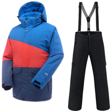 Saenshing водостойкий лыжный костюм для мужчин Горные лыжи куртка + сноуборд брюки дышащий зимний Снежный комплект снегоход пальто-30 градусов