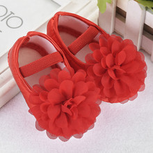 Walking Shoes Toddler Kid Baby Girl Chiffon Flower Elastic Band Newborn MM522