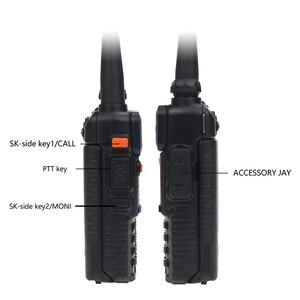 Image 3 - Baofeng UV 5R שתי דרך רדיו מיני נייד 5W Dual Band VHF UHF ווקי טוקי UV5R 128CH FM משדר ציד רדיו חם סורק