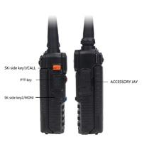 dual band vhf uhf Baofeng UV5R שני הדרך רדיו מיני נייד 5W Dual Band VHF UHF מכשיר הקשר UV5R 128CH FM משדר ציד Ham סורק רדיו (3)