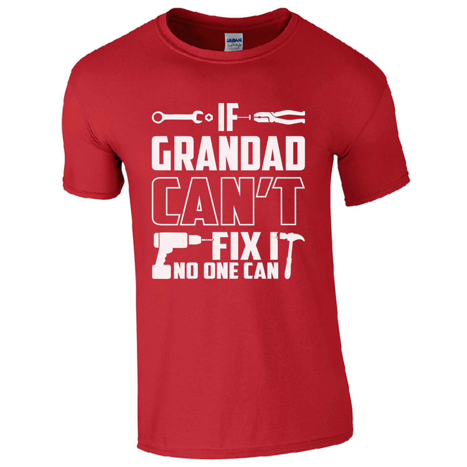 If Grandad Can/'t Fix It No One Can Funny T Shirt Gift for Grandad