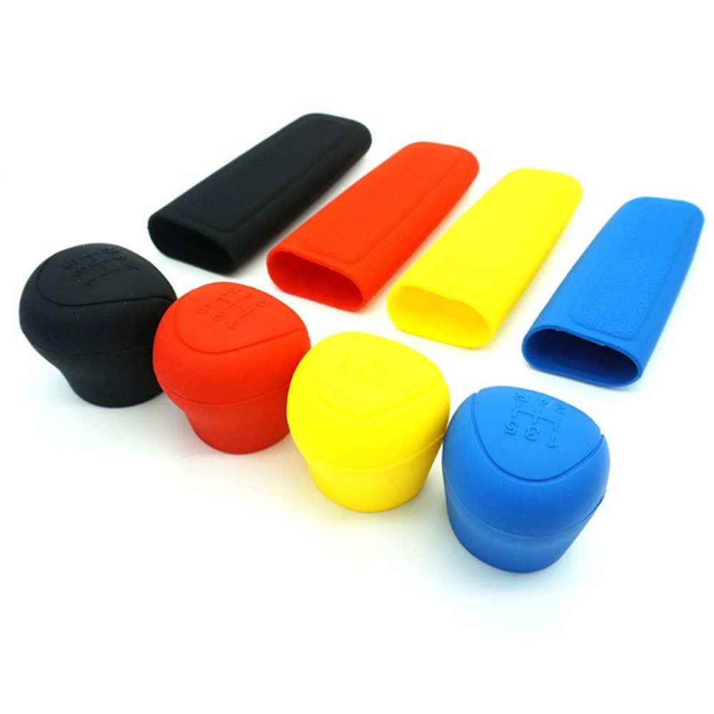 General Comfortable Car Silicone Gear Shift Knob Rod Cover Parking Car Hand Brake Grip Protective Cover Case Decoration Styler