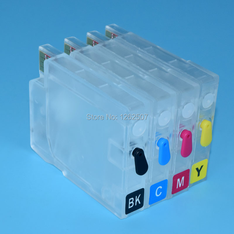 Refillable Ciss Ink Cartridge For HP711 with auto reset chip For HP T120 T520 Designjet Printer Cartridge with ink bag insdie hp711 printing ink refill kit 4color 1000ml for hp designjet t520 t120 printer