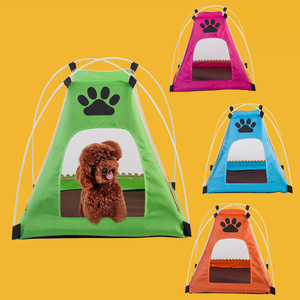 Hot sell dogs and cats pets house cartoon pet litter dog kennel removable pet tent Free Shipping