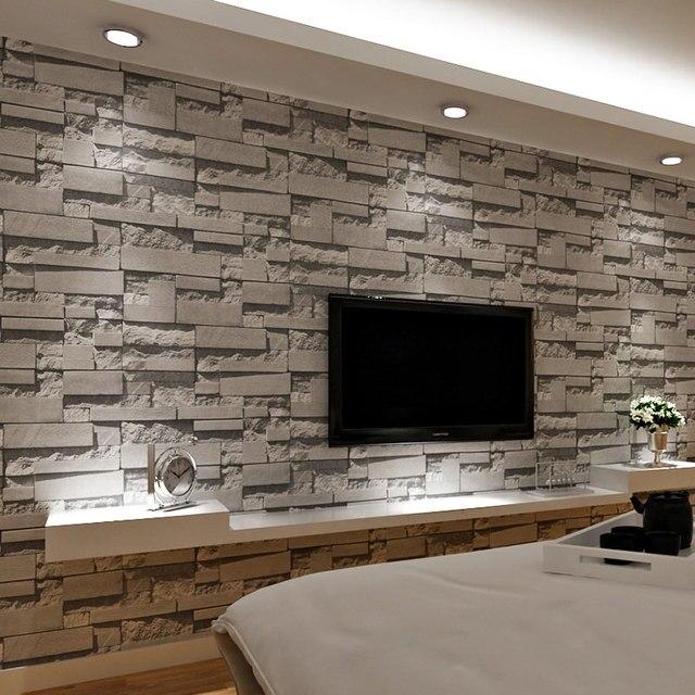3d relief pierre brique papier peint moderne simple salon chambre tv canap caf restaurant toile de - Papier Peint Design Pour Salon