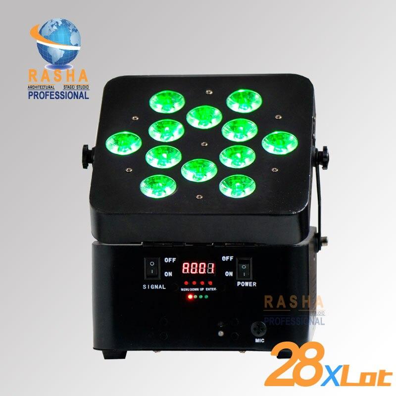 28X партия 12 шт. * 15 Вт 5IN1 свобода с батарейным питанием беспроводной светодиодный профиль параболический алюминизированный отражатель батар