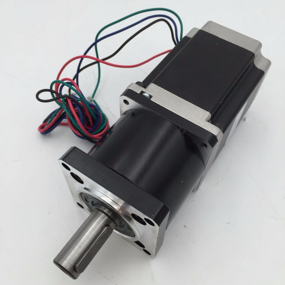 NEMA23 Reducer+Motor kits Ratio 100:1 Planetary Geared Stepper Motor 1.1Nm 57mm L56mm 3A 14mm Shaft with Keyway for CNC Router 57mm planetary gearbox geared stepper motor ratio 10 1 nema23 l 56mm 3a