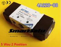 4A220 08 Pneumatic Airtac Air Control Solenoid Valve 1 4 Inlet Outlet 5 Way 2 Position