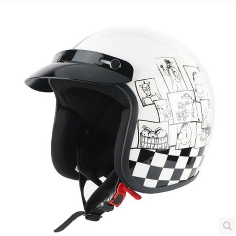 ФОТО Motorcycle helmet personality crayon FRP retro helmet