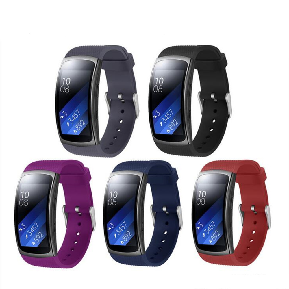 2018 sport silicone band for Samsung Gear Fit 2 Pro/Fit 2 strap Smart Watch replacement bracelet for Samsung Gear Fit2 Pro/Fit2 for gear fit2 watch band gear fit2 stainless steel bracelet strap replacement band wristband for samsung gear fit 2 sm r360