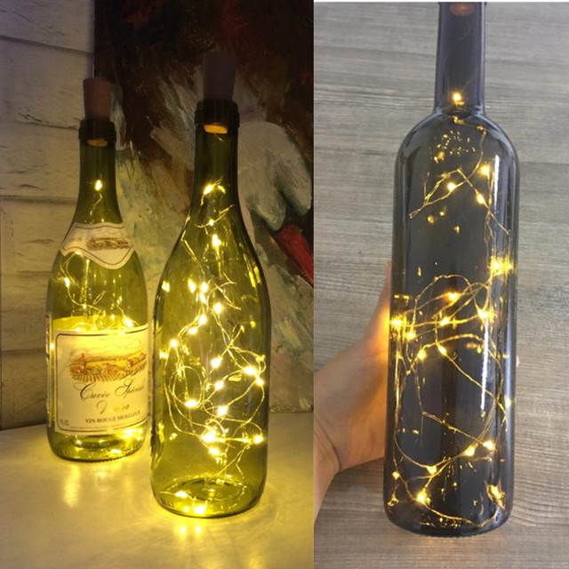 2M girlanda led String DIY lampki na szklane wyroby butelka nowy rok boże narodzenie walentynki ślub dekoracja urodzinowa