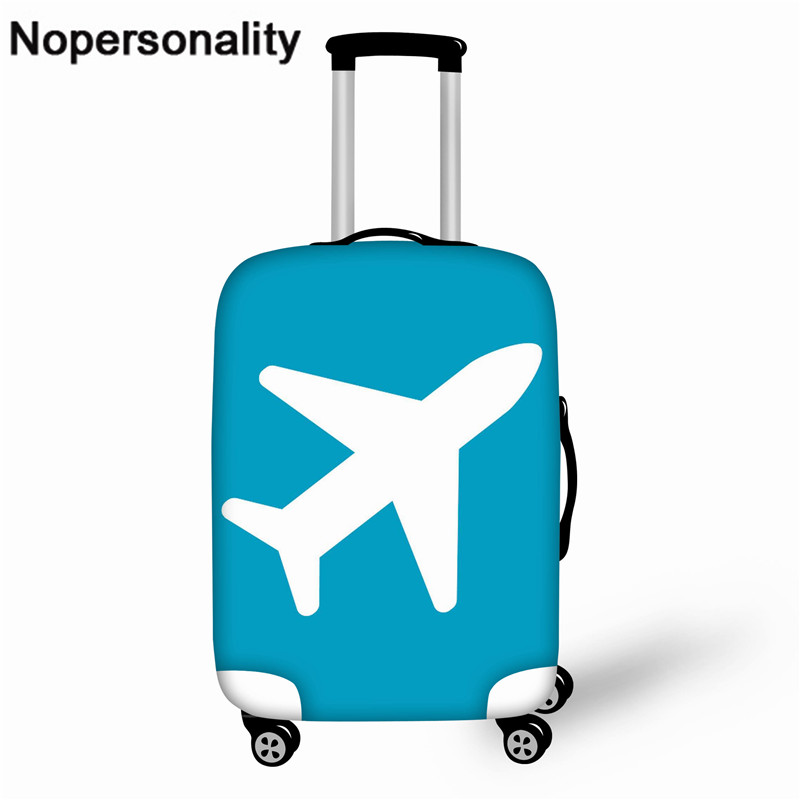 Nopersonality Blue 18-32 Inch Suitcase Covers Dust Cover Trolley Baggage Elasticity Protective Case Fashion Travel Accessories