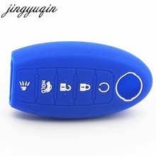 jingyuqin 30x Silicone Key Case For Nissan Altima Maxima Infiniti EX FX G37 Q60 QX50 QX70 5 Button Keyless Remote Fob Cover