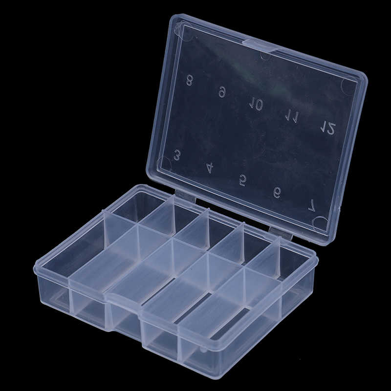 10 compartiments Mini boîte de matériel de pêche leurres de poisson crochets appâts en plastique support de rangement boîte carrée Pesca accessoires de pêche