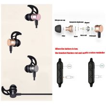 50PCS qijiagu New arrival Wireless Bluetooth earphones Magnetic universal Sports Music In-ear Bass Headphones