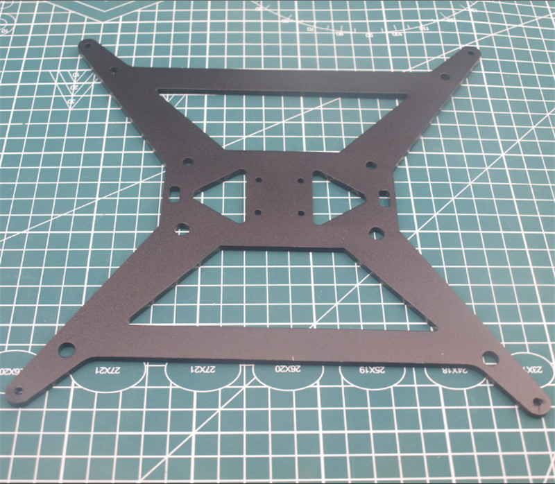 4mm black anodized Aluminum Y Carriage Plate 3D Tarantula/HE3D 3D Printer Upgrade heated bed support plate|3D Printer Parts & Accessories| |  - title=