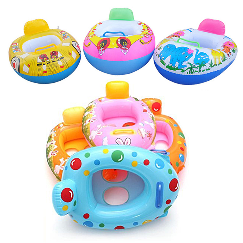65x45cm Inflatable Swimming Circles Kids Baby Swimming Seat Swim Ring Pool Aid Trainer Beach Floating Boat 2-5 Year Old Kid