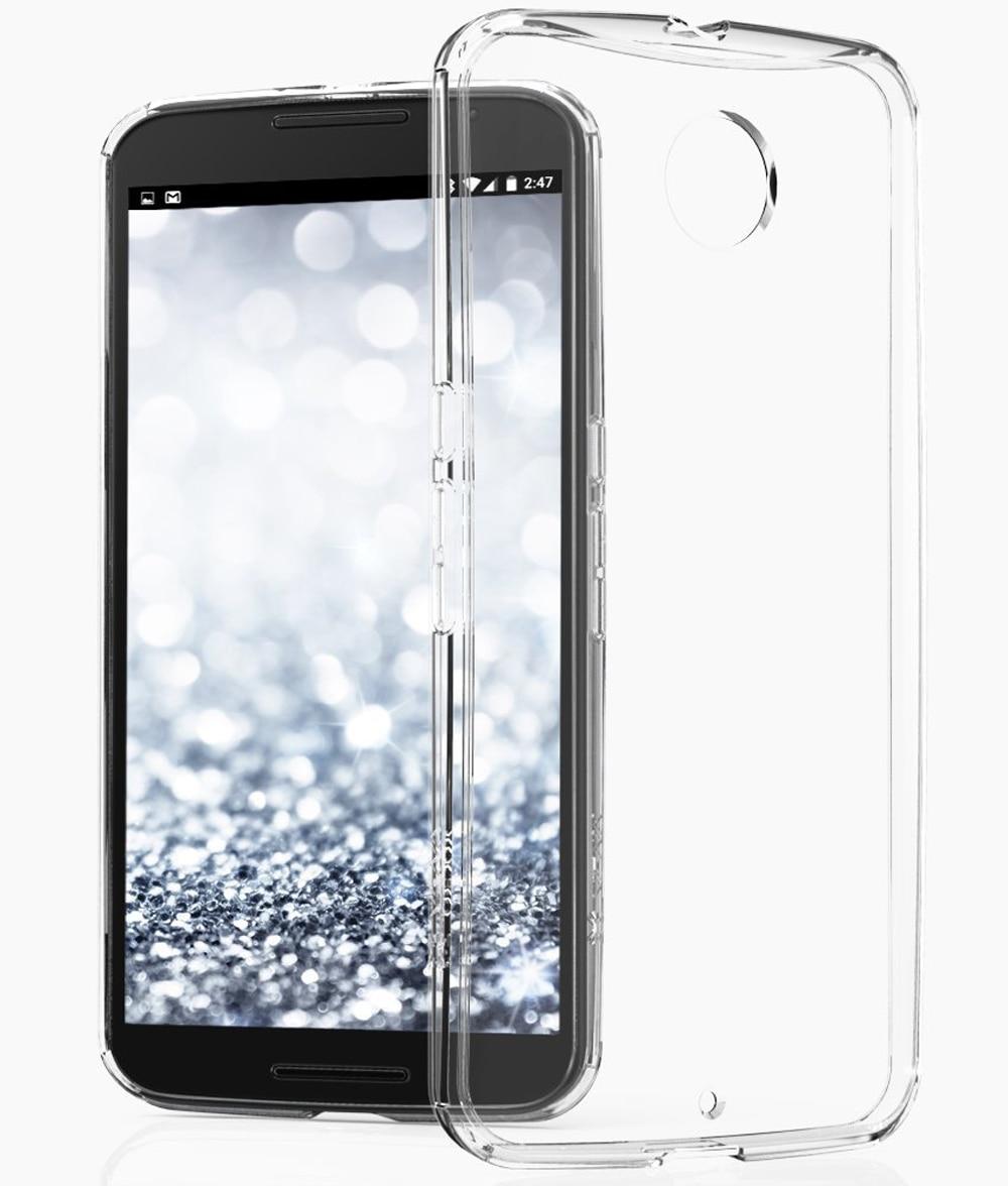sale retailer ae2f4 f3eab For Google Nexus 6 Motorola Nexus6 Anti-Scratches TPU Gel Premium Slim  Flexible Rubber Cover Fit Clear Soft TPU Protective Case