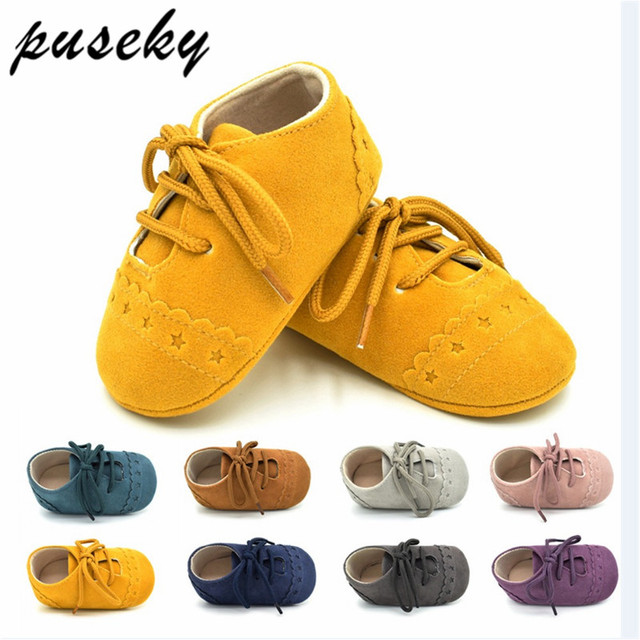 c1a6a28f5886 Hot Newborn Baby First Walk Shoes Girl Boy Soft Nubuck Leather Prewalker  Anti-slip Shoes Moccasins Footwear Shoes Toddler Shoes