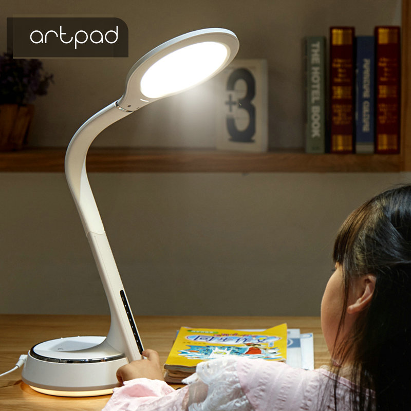 Artpad 42PCS LED Beads Modern Office Study Table Lamp 7 Levels Brightness Touch Dimmer Switch Eye Care Reading Light For Desk icoco sensitive touch dimmer desk lamp eye care reading led fashion night light folding portable table lamp for office study new