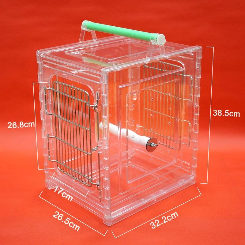 Cage portative de transporteur d'oiseau de perroquet résistante aux morsures Durable appropriée aux perroquets de petite taille - 2