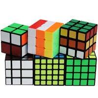 6 pz/set 2x2 3x3 4x4 5x5 Di Puzzle Cubo Magico 3*3 2*2 4*4 5*5 specchio Cubi ShengShou Cubo Megico Antistress Cubetti di Anti-stress Per Bambini