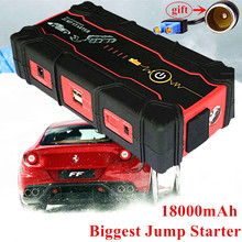 2017 Car Jump Starter 18000mAh Petrol Diesel Starting Device Power Bank 800A Peak Car Charger For Car Battery Booster Buster L