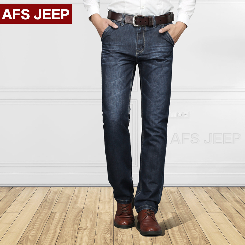 Afsjeep 2016 Autumn Winter Jeans Men Fashion Brands Plus Size 29 42 Men Jeans Casual Denim