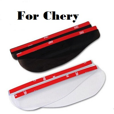 car styling Car Mirror Eyebrow Rain Cover Flaps Shield Shade Blades For Chery M11 Oriental Son QQ6 Sweet Tiggo Tiggo 5 Very chery b11 oriental son