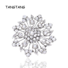 2f29be09e Wholesale Crystal Rhinestones Flower Brooches for Wedding Invitation Cake  Decoration Bouquet Kit Brooch Pins Hot Selling