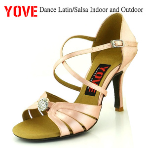 YOVE Style LD-3132 Dance shoes Bachata/Salsa Indoor and Outdoor Women's Dance Shoes