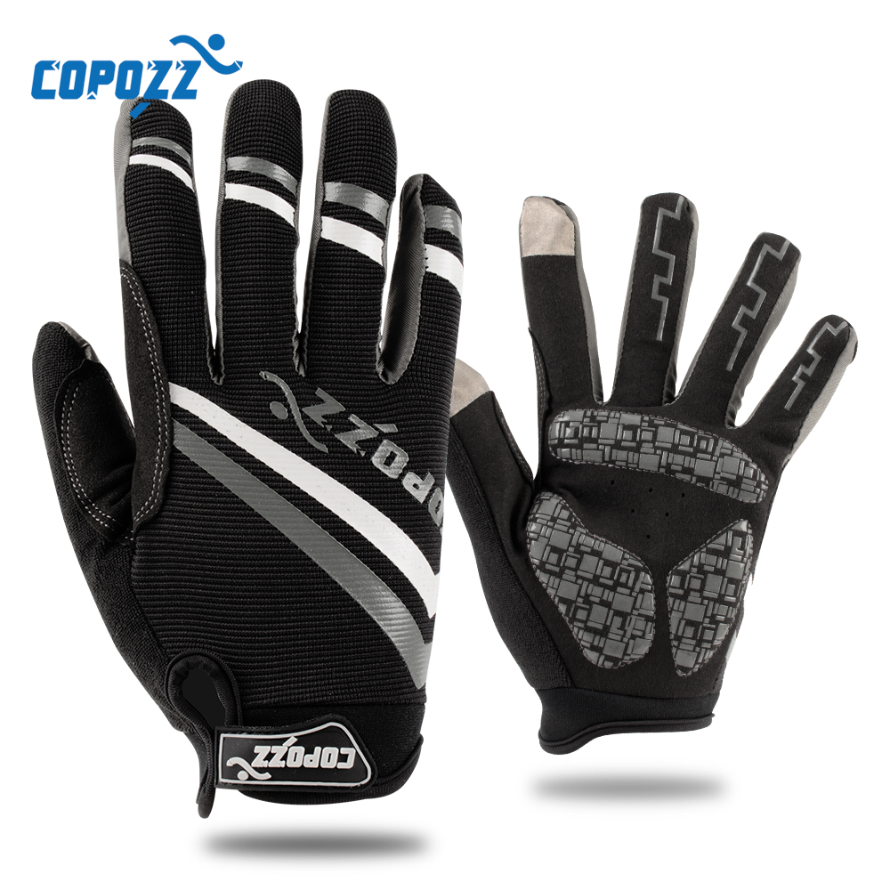 Copozz Brand New Gel Bike Glove Full Finger Touch Screen Cycling Gloves Anti-slip Shockproof Breathable MTB Sport Bicycle Gloves