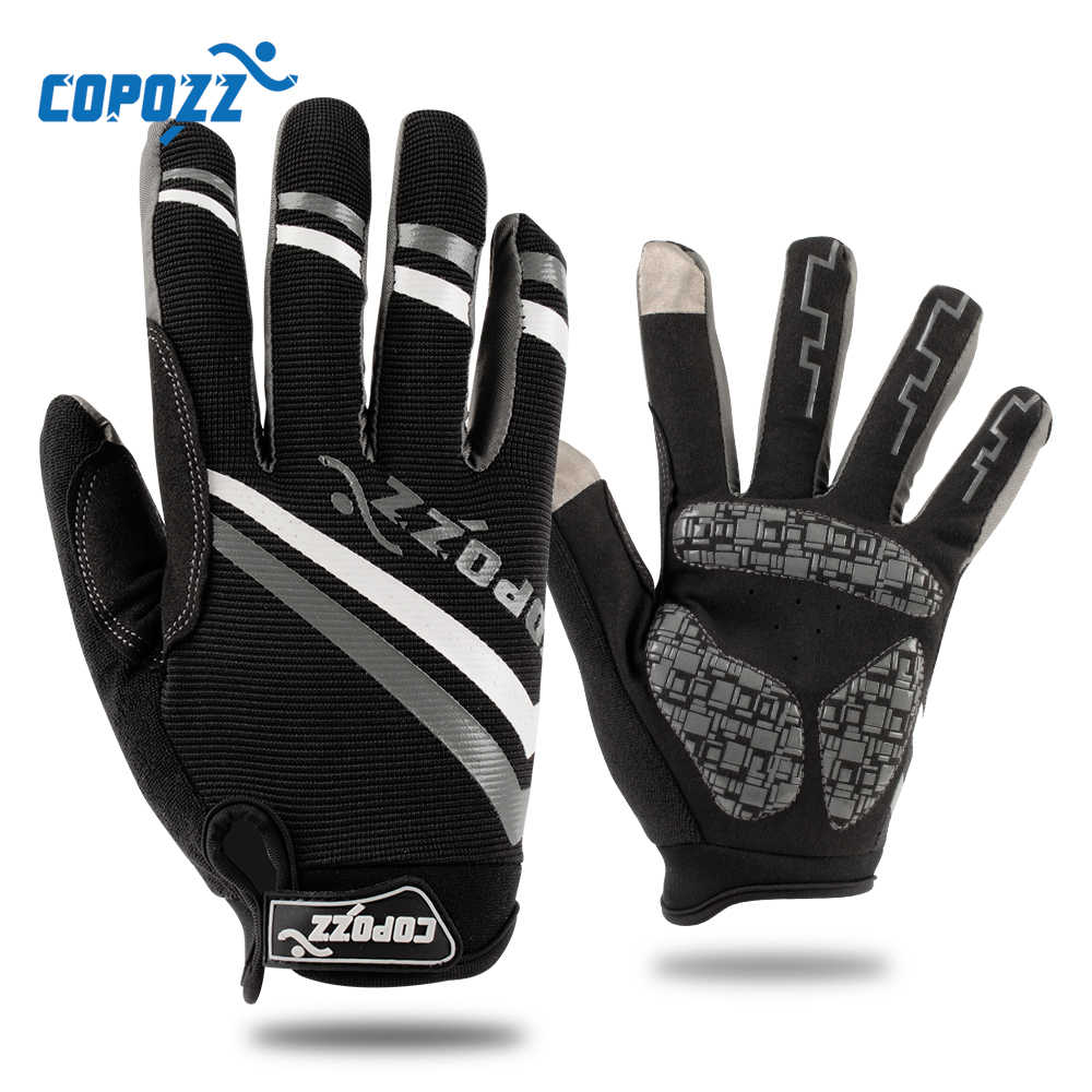 Full Finger Cycling Gloves Gel Shockproof Bicycle Mittens Washable Sports Glove
