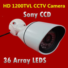 High quality 1/3″ Sony CCD HD Outdoor CCTV Security Camera Surveillance 1200TVL Waterproof IR Camera with 36 Array LEDS