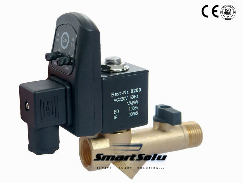 Free Shipping High Quality 5PCS In Lot 1/2'' Compressor Auto Condensate Drain Digital Timer Valve Solenoid 24-230V Model EDV-15T free shipping 1 2 compressor auto condensate drain digital timer solenoid valve auto drainer air compressor electrial drain page 9