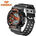 Brand HOSKA Men's watches sport Quartz watch and digital Double display digital-watch gig LED digital watch men waterproof h016n