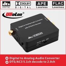 Digital para Analógico Conversor De Áudio Engrenagem DTS DAC AC3 5.1 dolby downmix para 2.0ch Decoder SPDIF Óptico Coaxial para L /R Toslink HIFI
