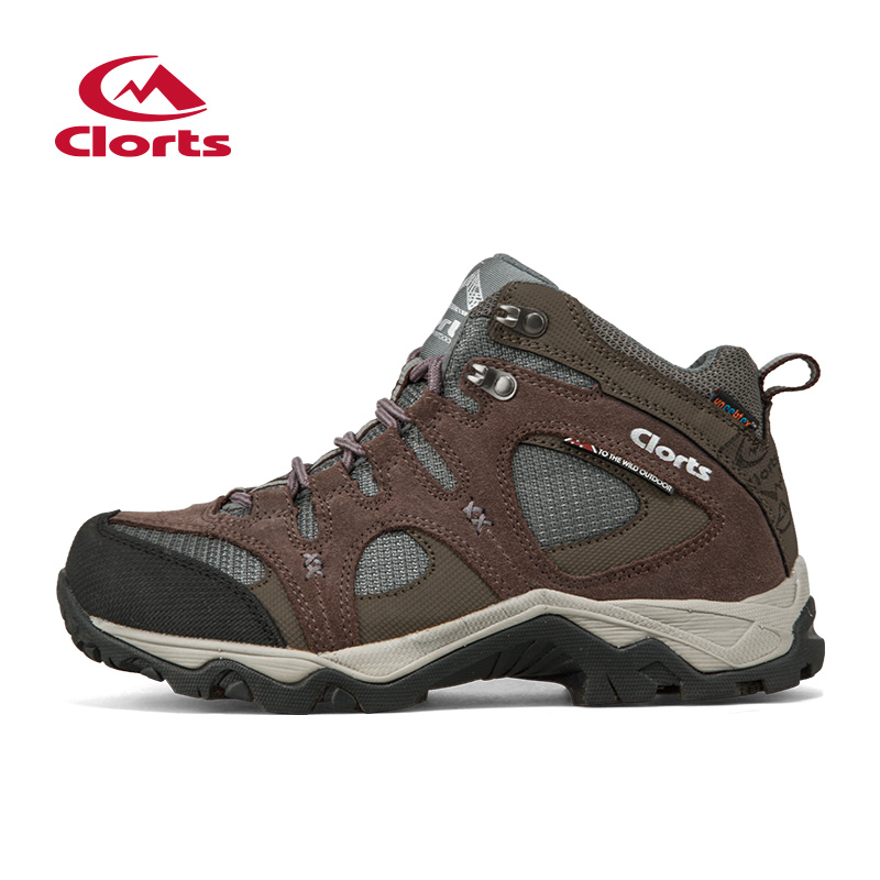 Clorts Womens Mountain Boots Suede Leather Climbing Outdoor Shoes Breathable Trekking Boots Waterproof Women Shoes HKM-820G/I clorts waterproof hiking shoes for women breathable outdoor mountain shoes suede leather climbing footwear