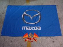 mazda racing  flag, 90*150CM polyster flagking brand flag