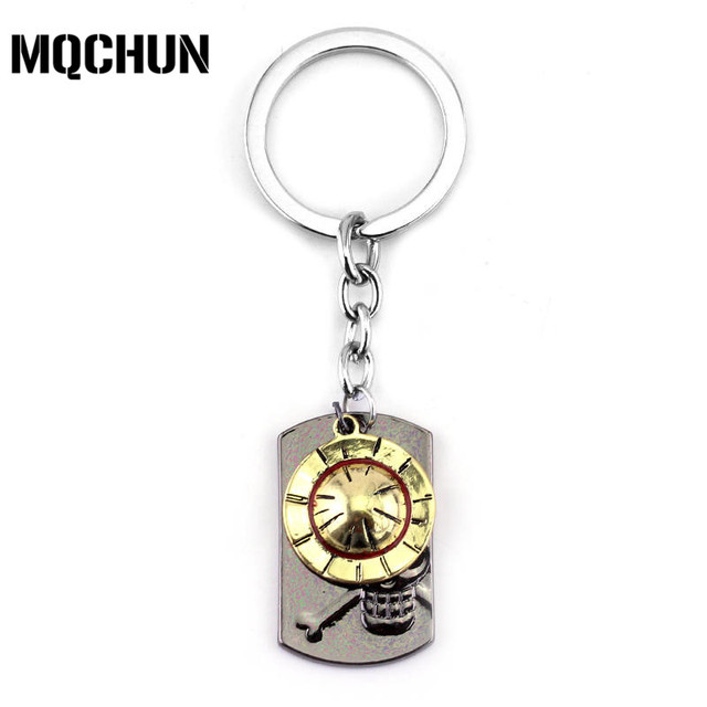 73e6f11bef2 Japanese Anime Fashion Key Chain One Piece Luffy Straw Hat Skull Double  Pendants Keychain Metal keyring for Boy Girl Gift-50