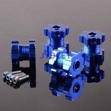 TRV5353X синий анодированный 17 мм колеса Hex концентраторы Splined Revo E-Revo E/T-Maxx Traxxas
